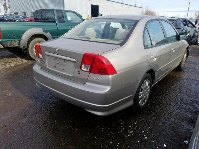 1HGES165X5L030512 - 2005 Honda Civic Lx 1.7L rear view