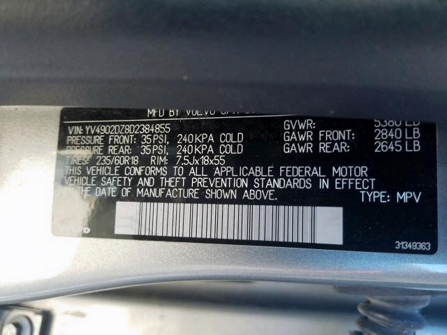 2013 Volvo XC60 | Vin: YV4902DZ8D2384855
