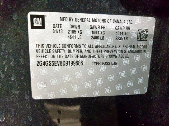 2013 Buick REGAL | Vin: 2G4GS5EV8D9199686