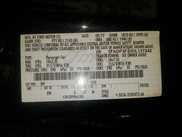 2013 Ford  | Vin: 1FADP3F23DL137242