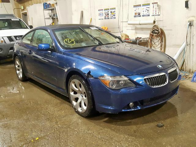 BMW salvage cars for sale: 2005 BMW 645 CI AUT