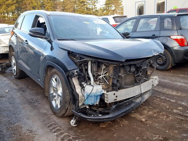 Salvage cars for sale from Copart Lyman, ME: 2016 Toyota Highlander