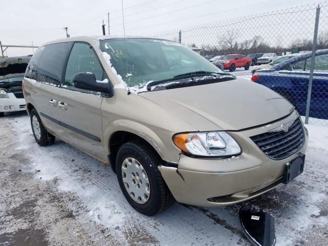 Salvage 2003 Chrysler VOYAGER LX for sale