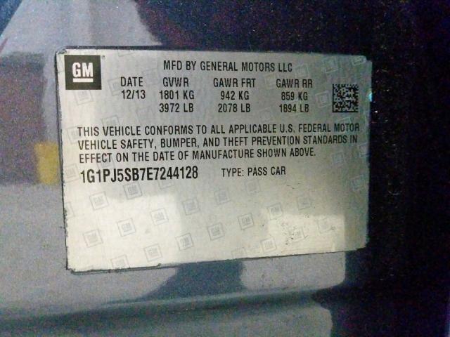 2014 Chevrolet  | Vin: 1G1PJ5SB7E7244128