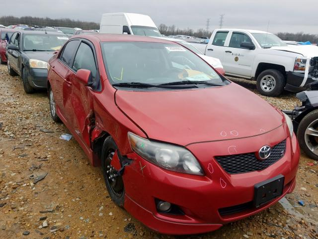 Salvage cars for sale at Memphis, TN auction: 2010 Toyota Corolla BA