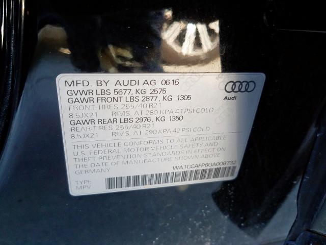 2016 Audi SQ5 PREMIUM PLUS | Vin: WA1CCAFP6GA008732