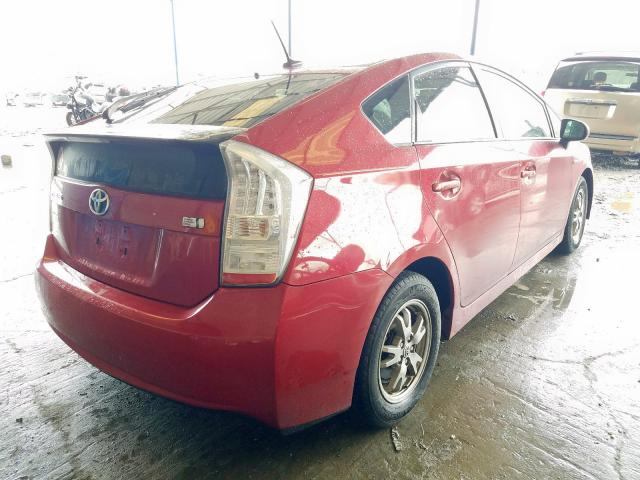 Salvage Title 2010 Toyota Prius Hatchbac 1 8l For Sale In