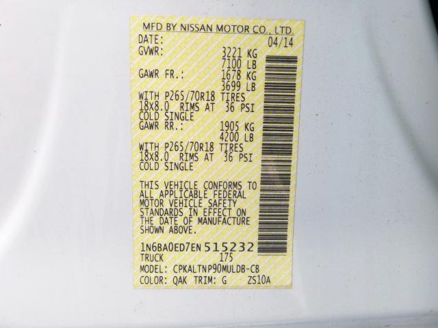 2014 Nissan  | Vin: 1N6BA0ED7EN515232