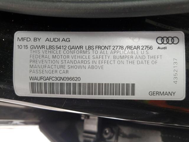 2016 Audi A6 PREMIUM PLUS | Vin: WAUFGAFC3GN096620