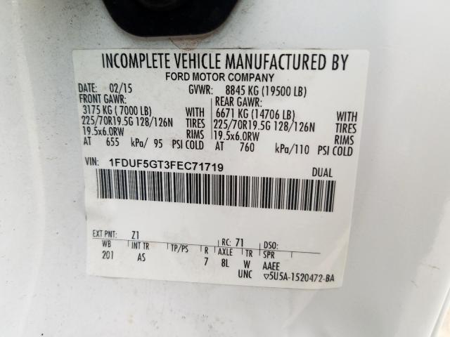 2015 Ford F550 | Vin: 1FDUF5GT3FEC71719