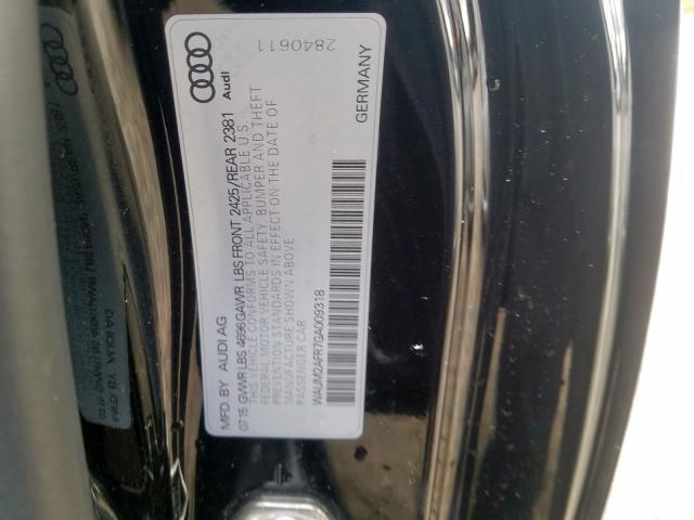 2016 Audi A5 PREMIUM PLUS S-LINE | Vin: WAUM2AFR7GA009318