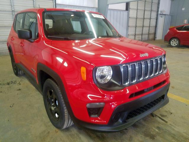 Jeep Renegade S salvage cars for sale: 2019 Jeep Renegade S