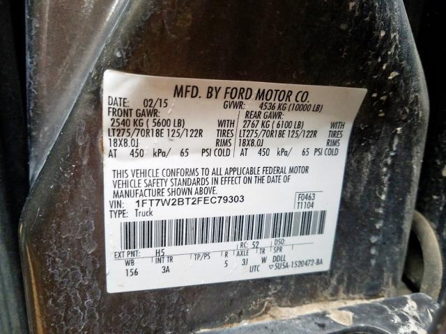 2015 Ford  | Vin: 1FT7W2BT2FEC79303