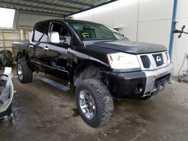 Salvage cars for sale from Copart Anthony, TX: 2007 Nissan Titan XE