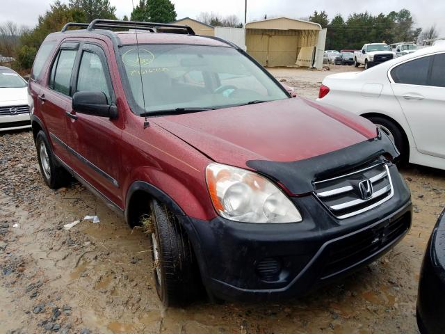 Honda CR-V LX salvage cars for sale: 2006 Honda CR-V LX