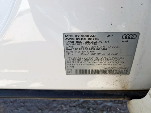 2018 Audi Q3 PREMIUM | Vin: WA1BCCFS1JR014409