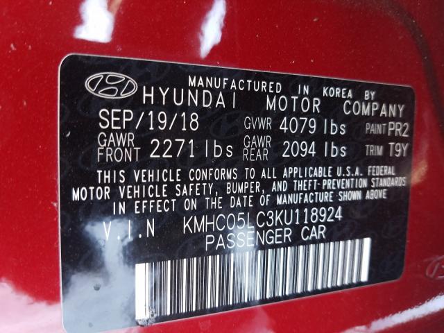 2019 Hyundai IONIQ | Vin: KMHC05LC3KU118924