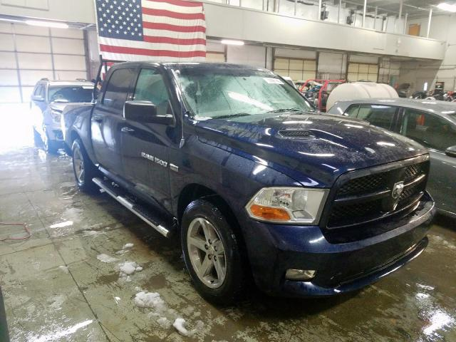 Dodge RAM 1500 salvage cars for sale: 2012 Dodge RAM 1500