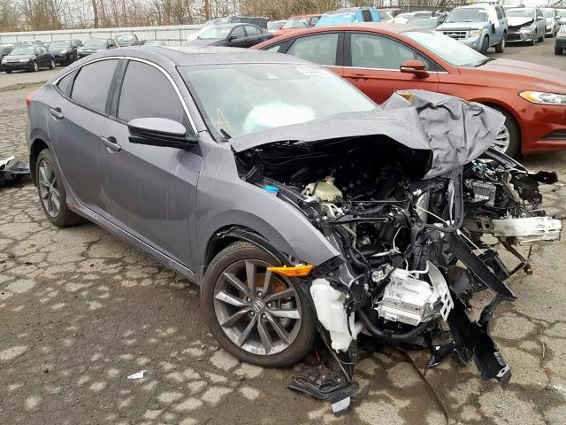Salvage cars for sale from Copart Portland, OR: 2019 Honda Civic EX