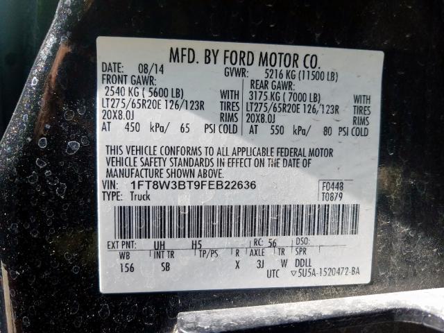 2015 Ford F350 | Vin: 1FT8W3BT9FEB22636