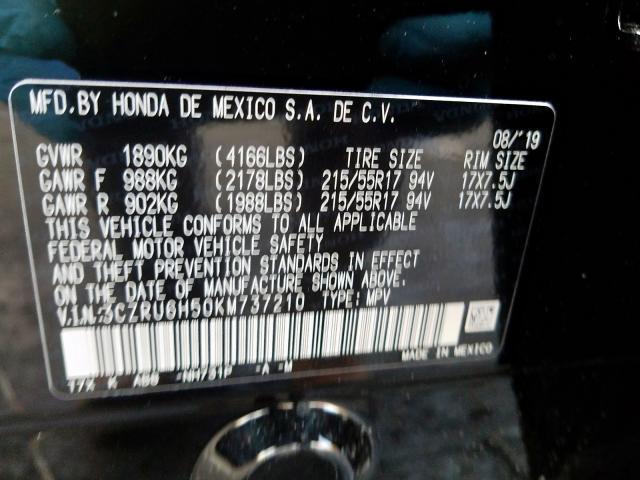 2019 Honda  | Vin: 3CZRU6H50KM737210
