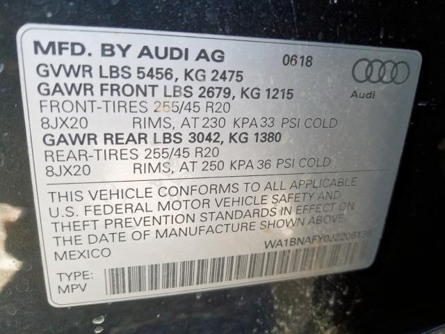 2018 Audi Q5 PREMIUM PLUS | Vin: WA1BNAFY0J2206139