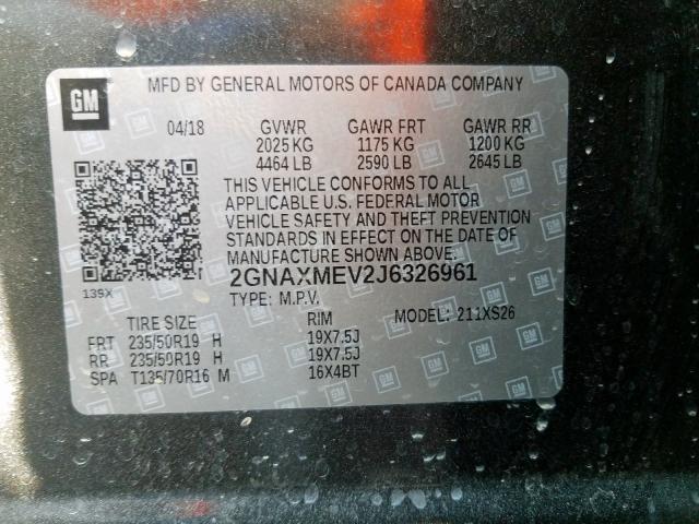 2018 Chevrolet  | Vin: 2GNAXMEV2J6326961