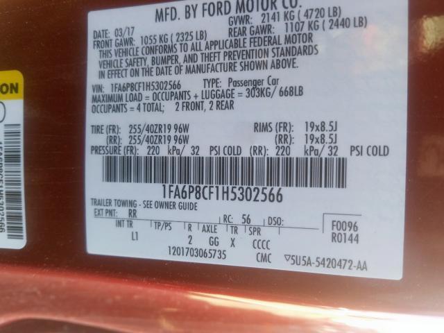 2017 Ford  | Vin: 1FA6P8CF1H5302566