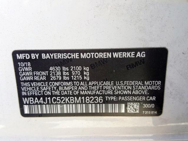 WBA4J1C52KBM18236