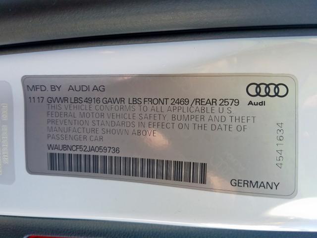 2018 Audi A5 PREMIUM PLUS | Vin: WAUBNCF52JA059736