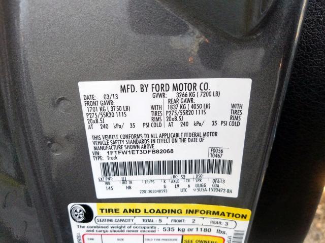 2013 Ford F150 | Vin: 1FTFW1ET3DFB82068