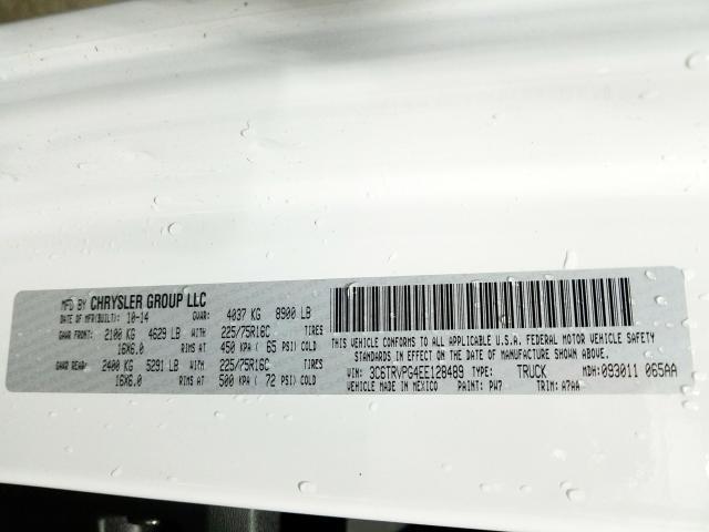 2014 RAM PROMASTER | Vin: 3C6TRVPG4EE128489