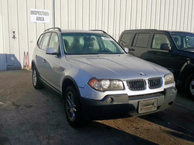 BMW salvage cars for sale: 2005 BMW X3 2.5I