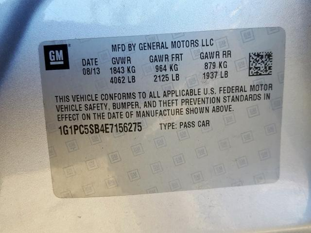 2014 Chevrolet  | Vin: 1G1PC5SB4E7156275