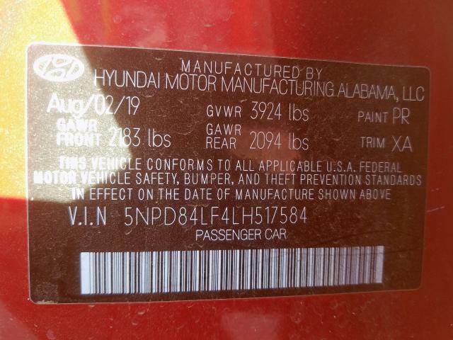 2020 Hyundai ELANTRA | Vin: 5NPD84LF4LH517584