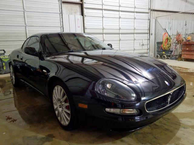Salvage cars for sale from Copart San Antonio, TX: 2002 Maserati Coupe GT