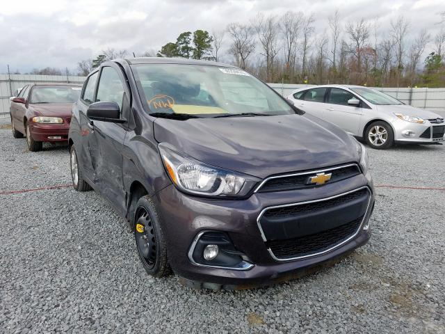 Chevrolet Spark 1LT salvage cars for sale: 2016 Chevrolet Spark 1LT