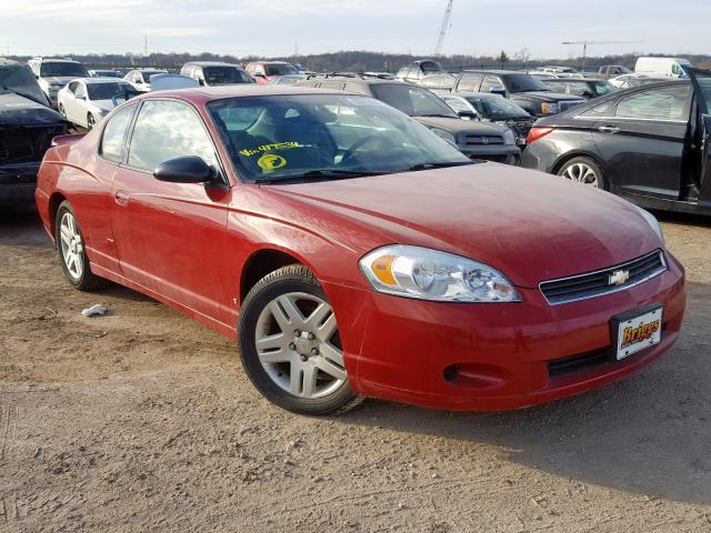 Salvage 2007 Chevrolet MONTE CARL for sale