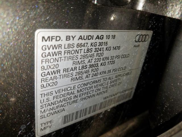 2019 Audi Q7 | Vin: WA1VAAF75KD016293