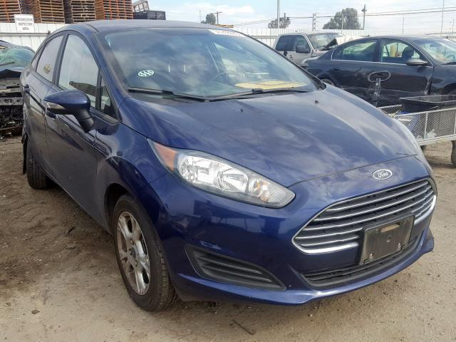 Ford Fiesta SE salvage cars for sale: 2016 Ford Fiesta SE