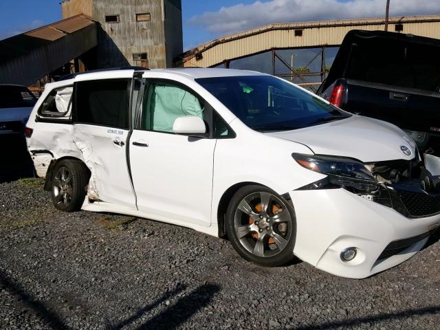Toyota Sienna SE salvage cars for sale: 2016 Toyota Sienna SE