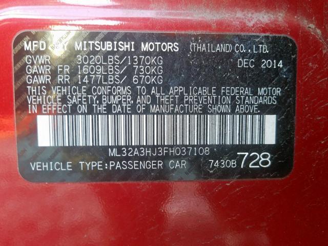 2015 Mitsubishi  | Vin: ML32A3HJ3FH037108