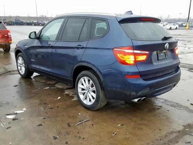 купить 2017 BMW X3 XDRIVE28I 5UXWX9C52H0D99945