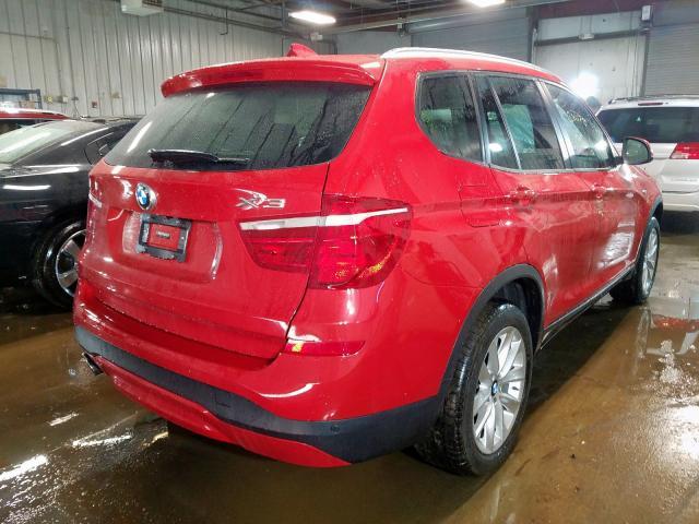 2016 BMW X3 XDRIVE2 5UXWX9C53G0D68699