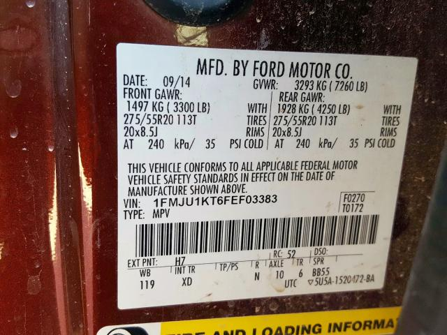 2015 Ford  | Vin: 1FMJU1KT6FEF03383