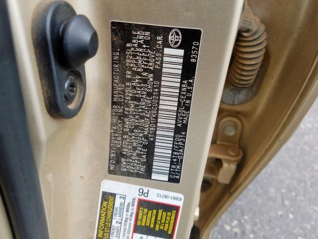 4T1BD1FK6CU021410 - 2012 Toyota Camry Hybr 2.5L