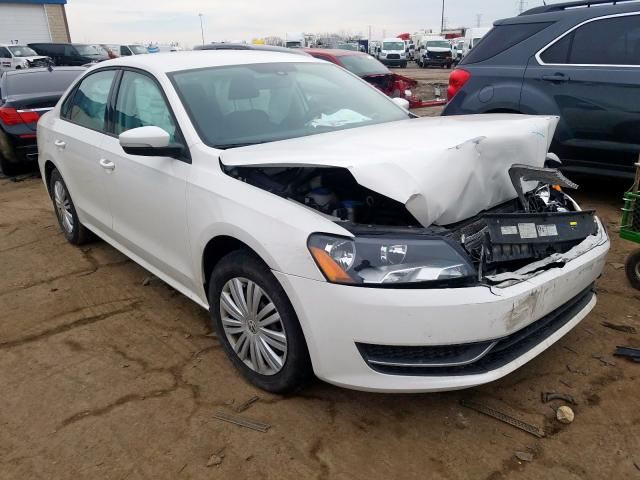 Salvage cars for sale from Copart Woodhaven, MI: 2015 Volkswagen Passat S