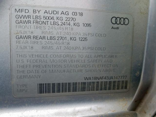 WA18NAF43JA147777