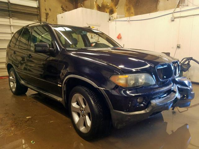 Salvage cars for sale from Copart Casper, WY: 2006 BMW X5 4.4I