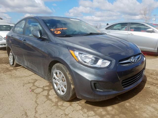 Salvage cars for sale from Copart Kansas City, KS: 2013 Hyundai Accent GLS